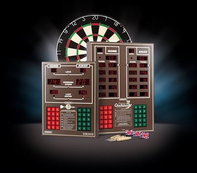 Dart scorers and dartboard